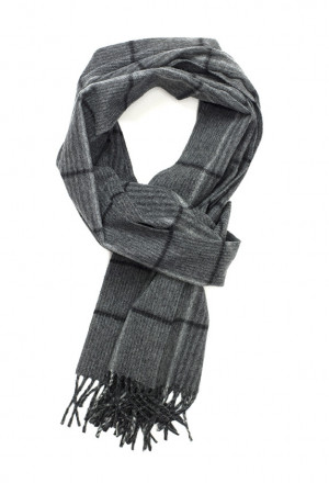 Grey & Black Canterbury Check Escorial Scarf