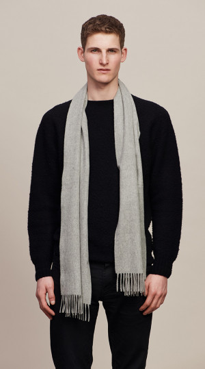 Light Grey Classic Cashmere Scarf