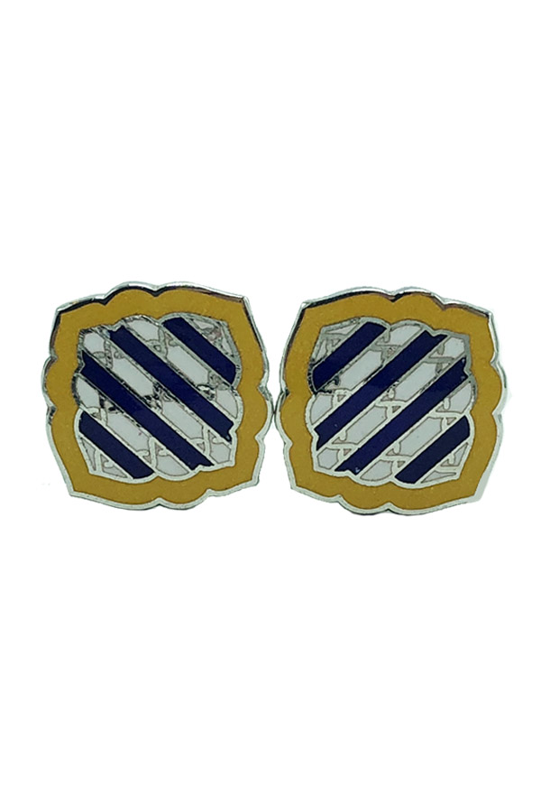 Yellow & Blue Sheild Cufflinks