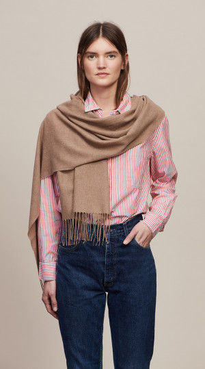 Natural Solid Lightweight Scarf Cashmere Scarf
