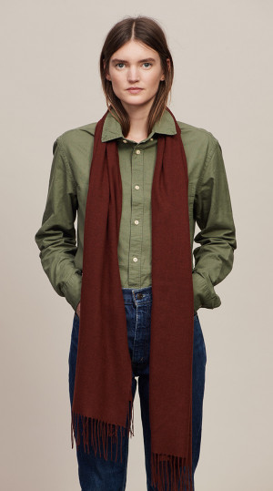 Red Grouse Solid Lightweight Scarf Cashmere Scarf