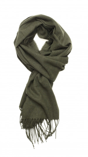 Loden Solid Lightweight Scarf Cashmere Scarf
