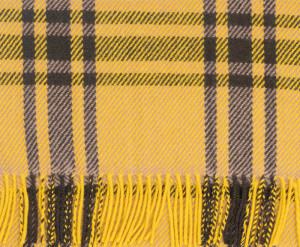 Yellow, Army Drab & Fudge Heritage Modern Tartan Classic Cashmere Scarf