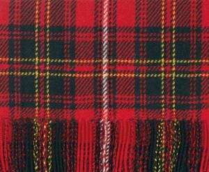 Bright Scarlet, New Green & Yellow Heritage Modern Tartan Classic Cashmere Scarf