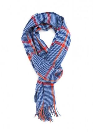Eau De Nil, Cobalt & Bright Scarlet Heritage Tweed Classic Cashmere Scarf