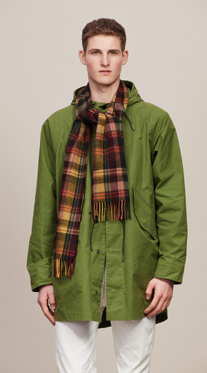 New Green, Crimson & Orange Modern Tartan Classic Cashmere Scarf