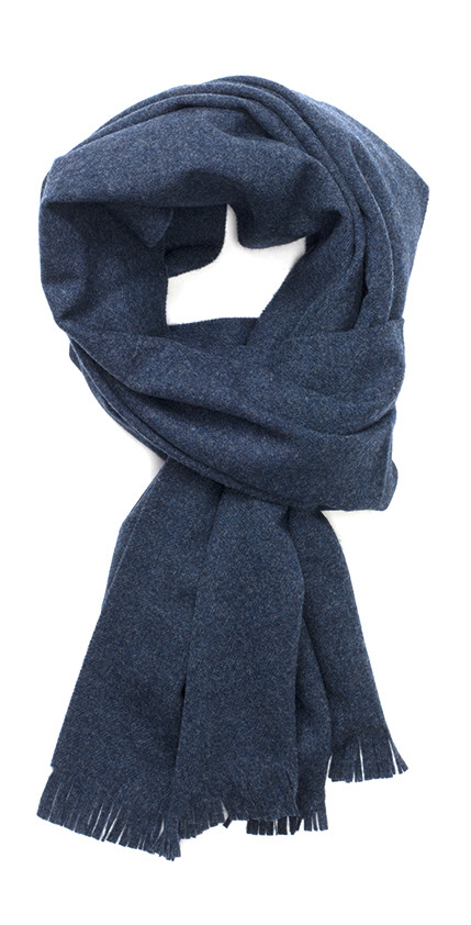 Dark Blue Solid Lightweight Escorial Scarf