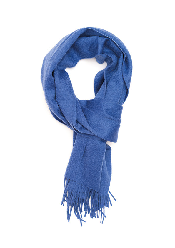 Soft Sapphire Solid Wide Cashmere Scarf