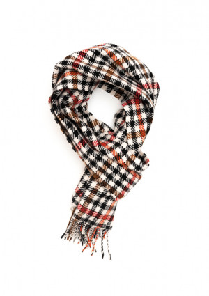White, Bengal Tiger & Crocket Heritage Tweed Classic Cashmere Scarf