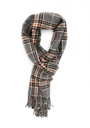 Black, Fudge & Bengal Tiger Heritage Tweed Classic Cashmere Scarf