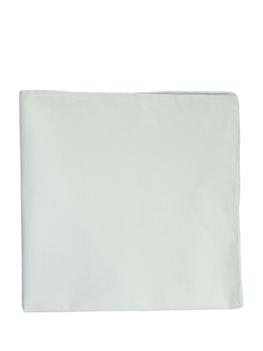 White Poplin Pocket Square