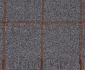 Mid Grey & Tan Windowpane Lightweight Escorial Scarf