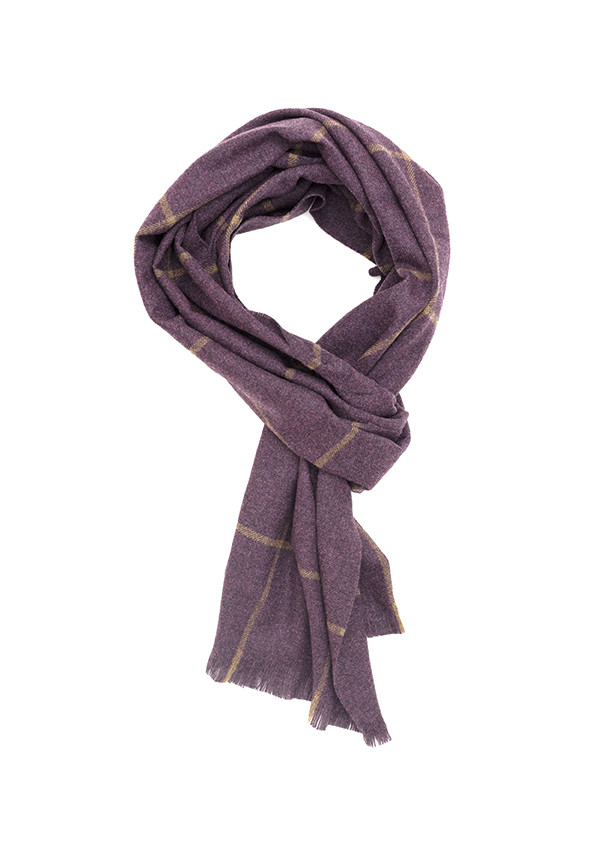 Plum & Pipit Windowpane Lightweight Escorial Scarf