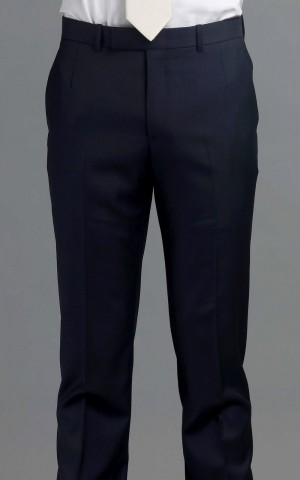 Navy Blue Twill Two-Button Wool MTM Suit