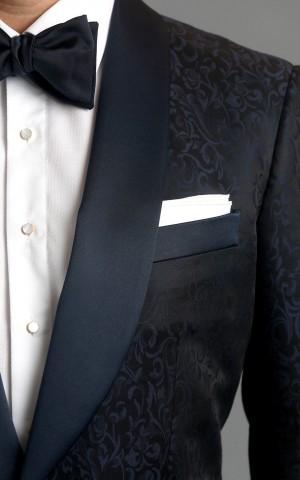 Blue Floral Jacquard One-Button MTM Dinner Jacket