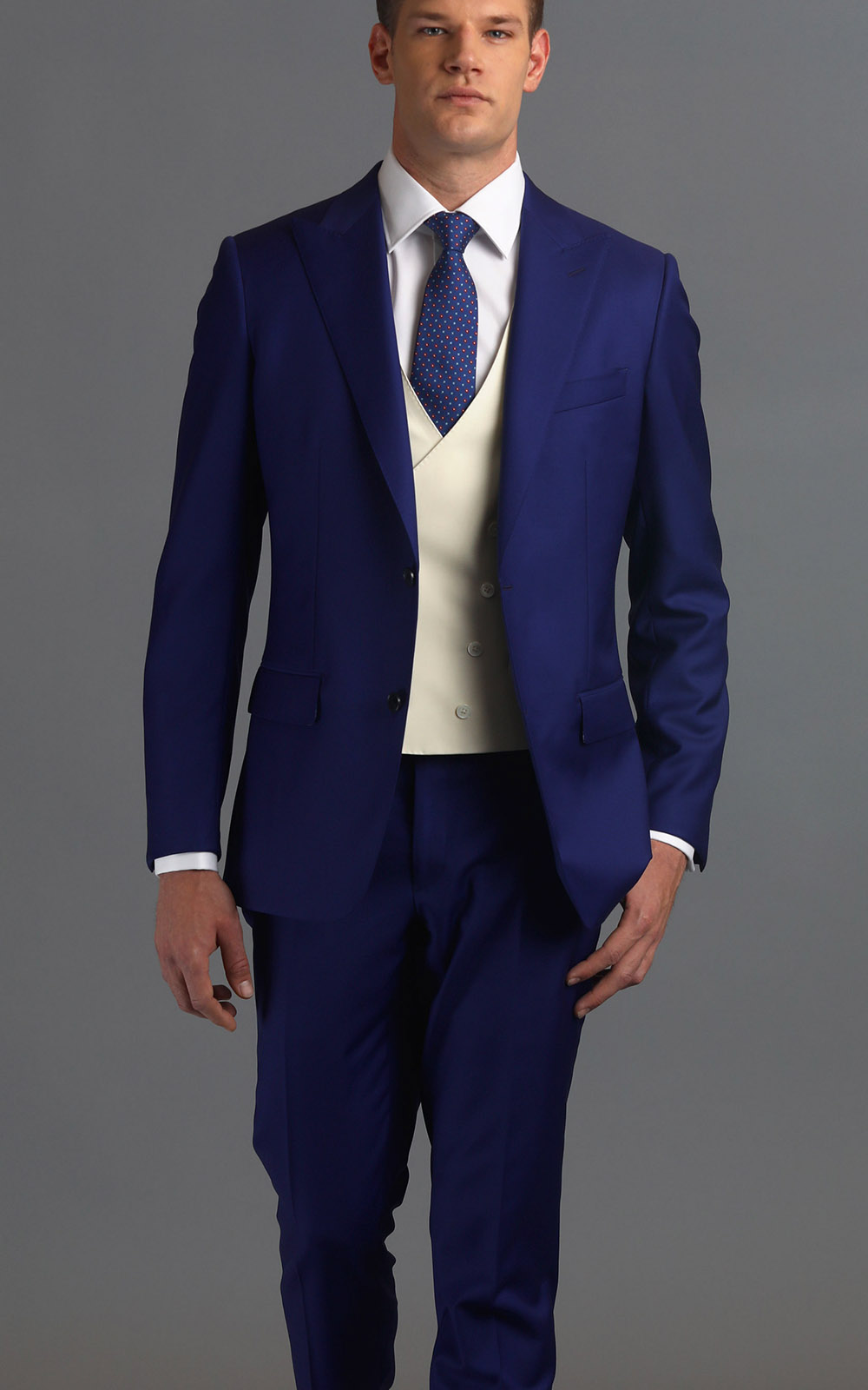 Royal Blue Two-Button Wool MTM Suit