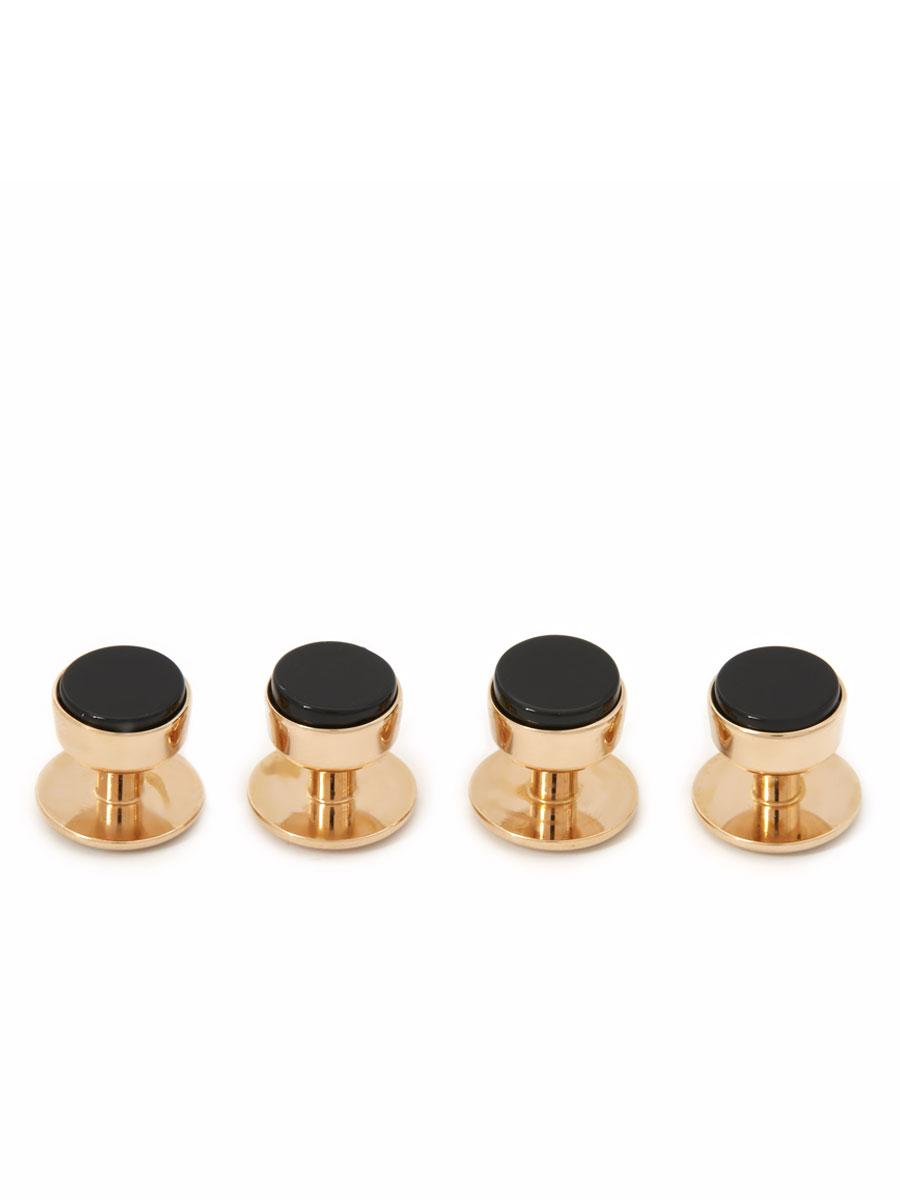 Onyx Tuxedo Studs (Rose Gold Finish)