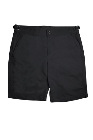 "Black Solid ""Brunch to Beach"" Swim Shorts"