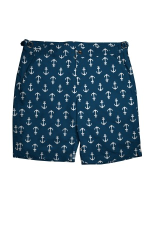 Navy/White Anchors Swim Shorts