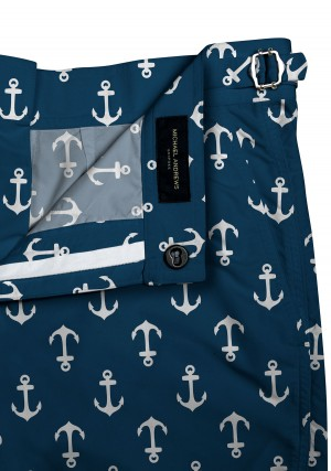 Navy/White Anchors Swim Shorts