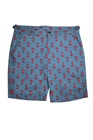 Blue/Red Anchors Swim Shorts