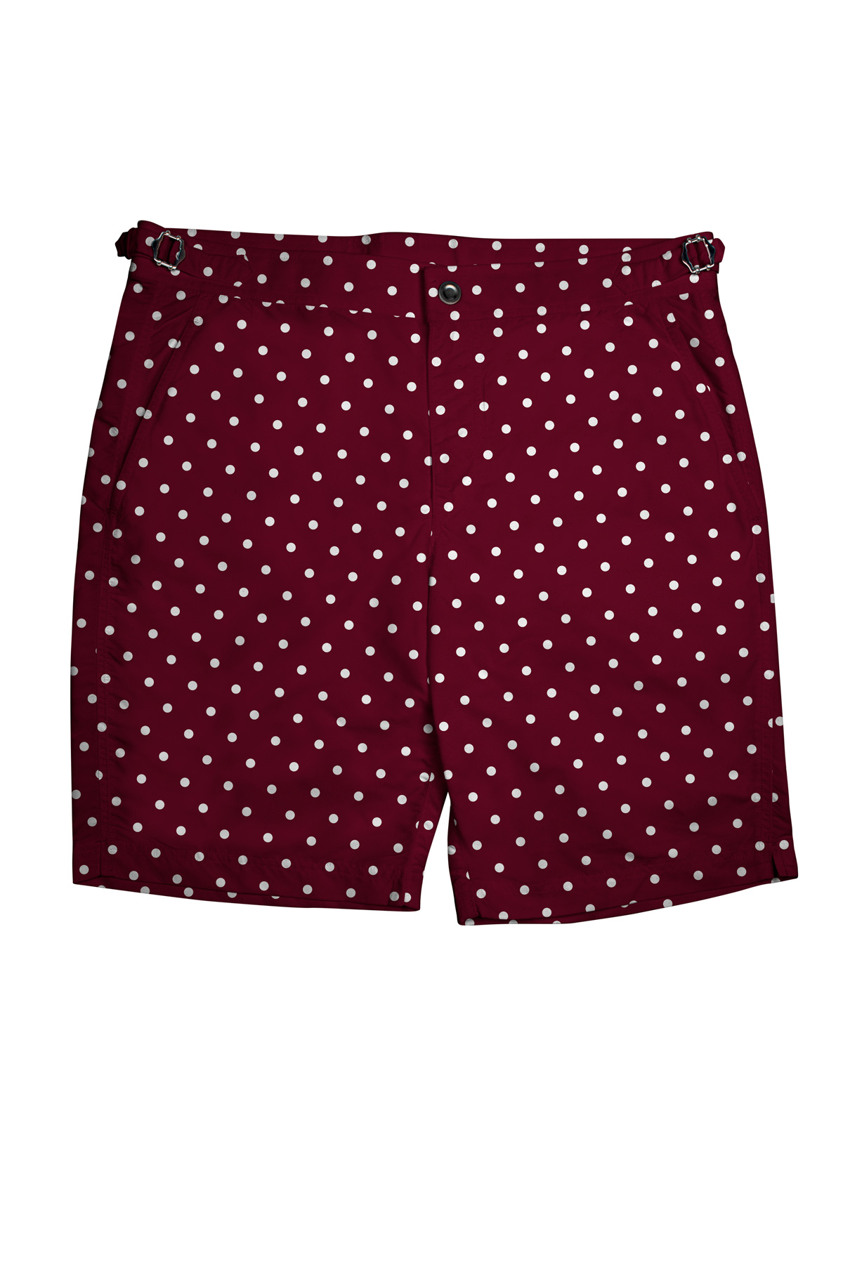 Red/White Polka Dots Swim Shorts