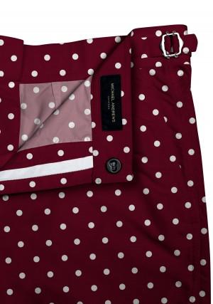 Red/White Polka Dots Swim Shorts