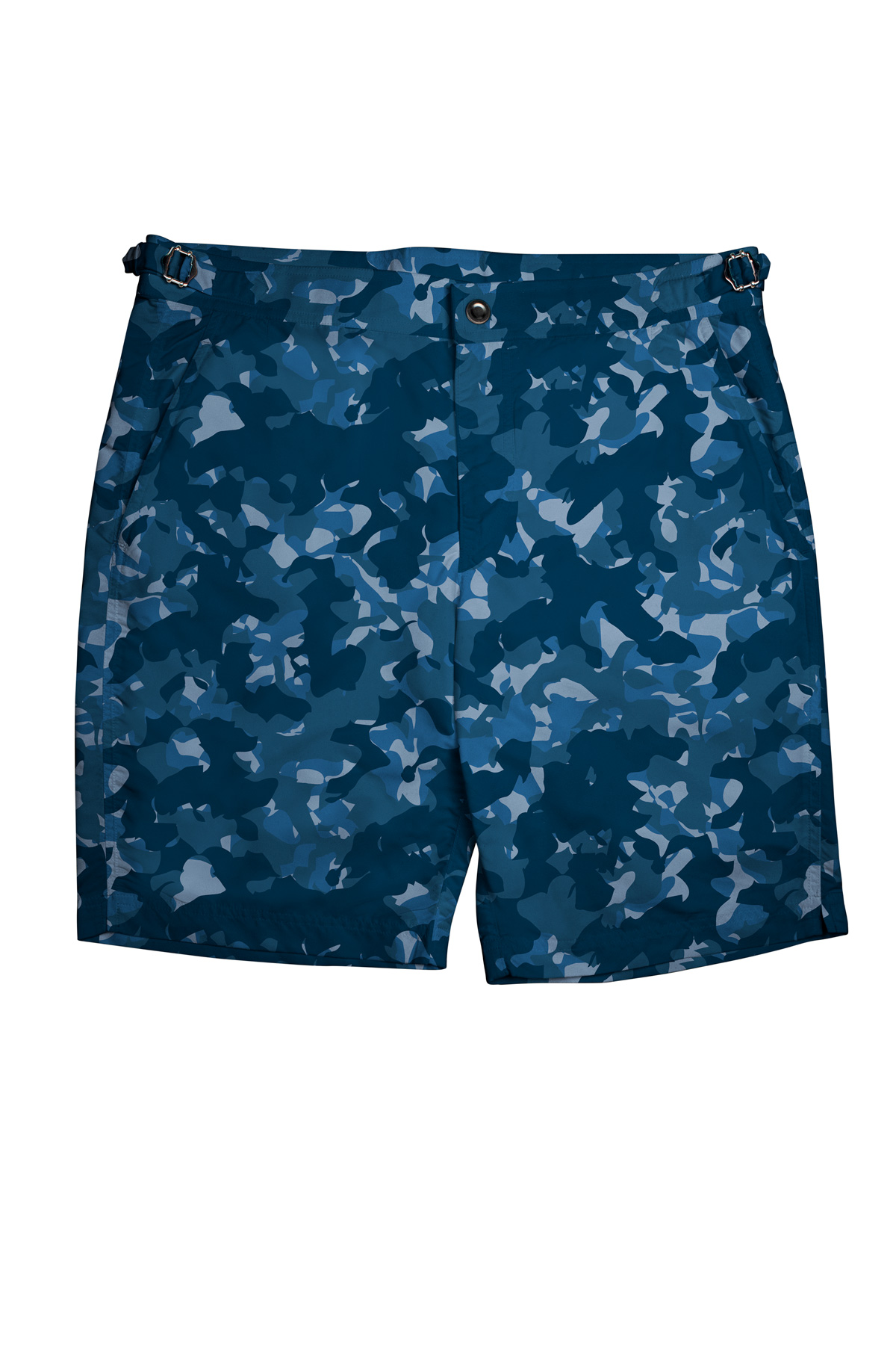 Blue Camouflage Swim Shorts