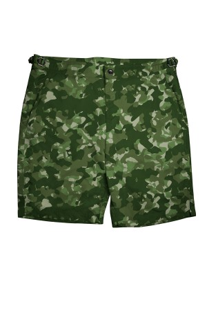 Green Camouflage Swim Shorts