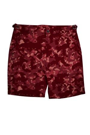 Red Camouflage Swim Shorts