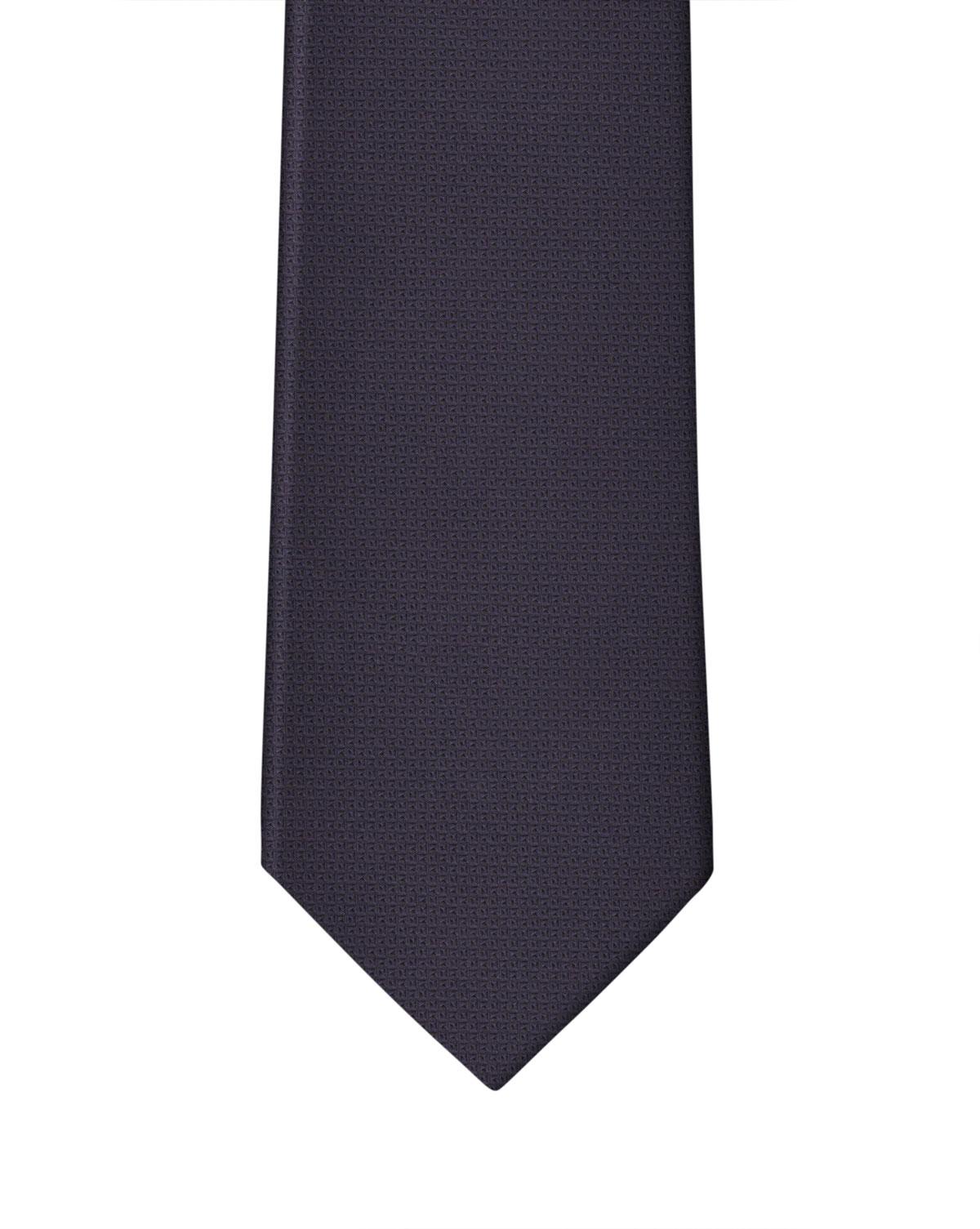 Dk Purple Very Fine Geometric Weave Necktie