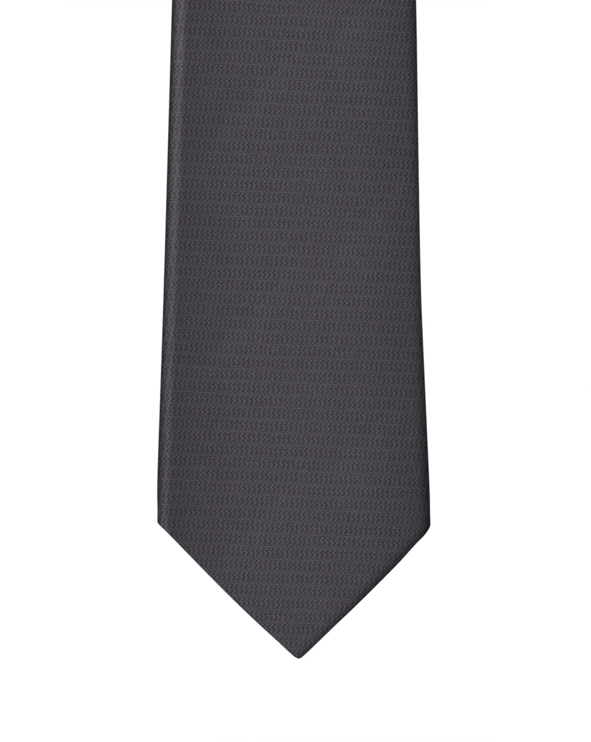 Charcoal Textured Tone-on-Tone Stripe Necktie