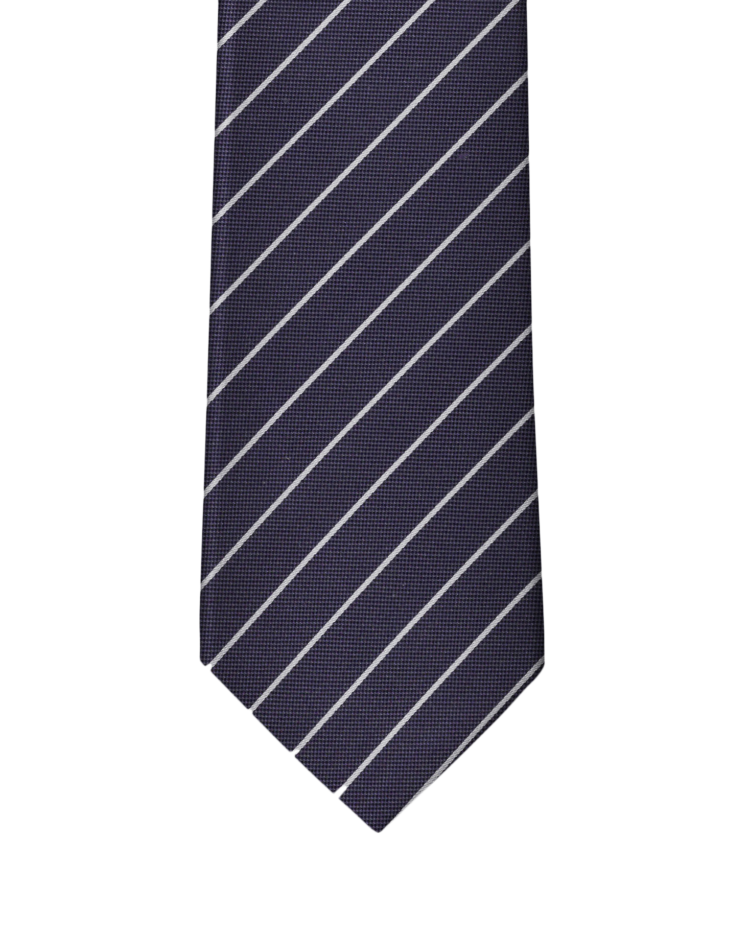 Dark Purple Pin Stripe Necktie