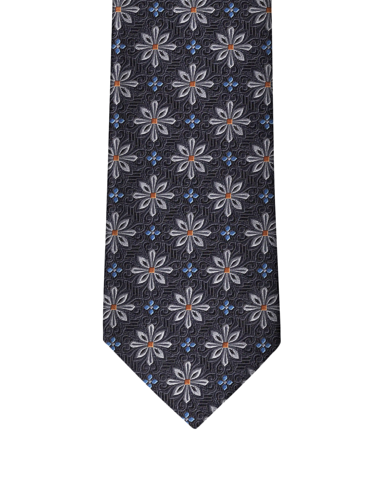 Grey Medallion Necktie