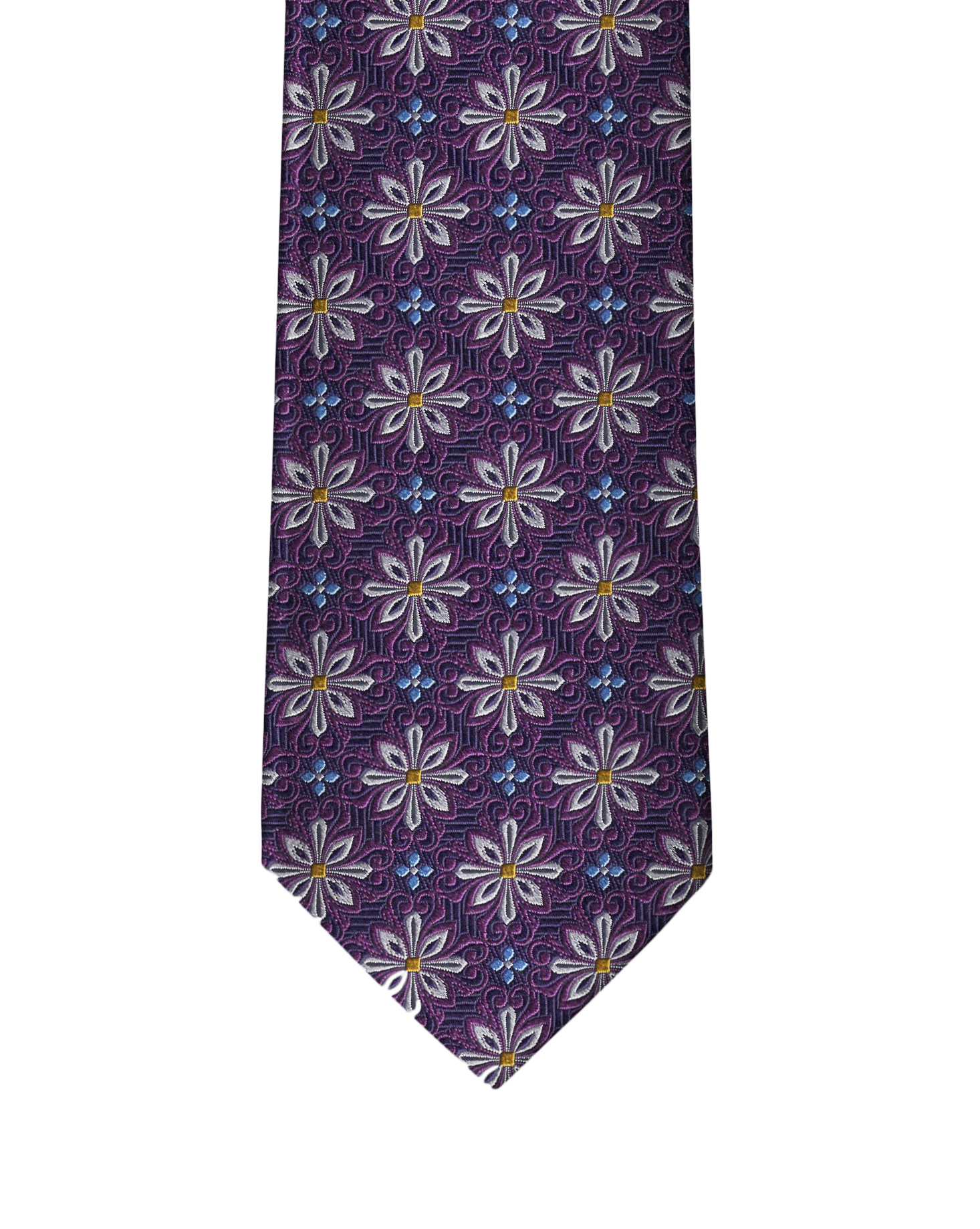 Dark Purple Medallion Necktie