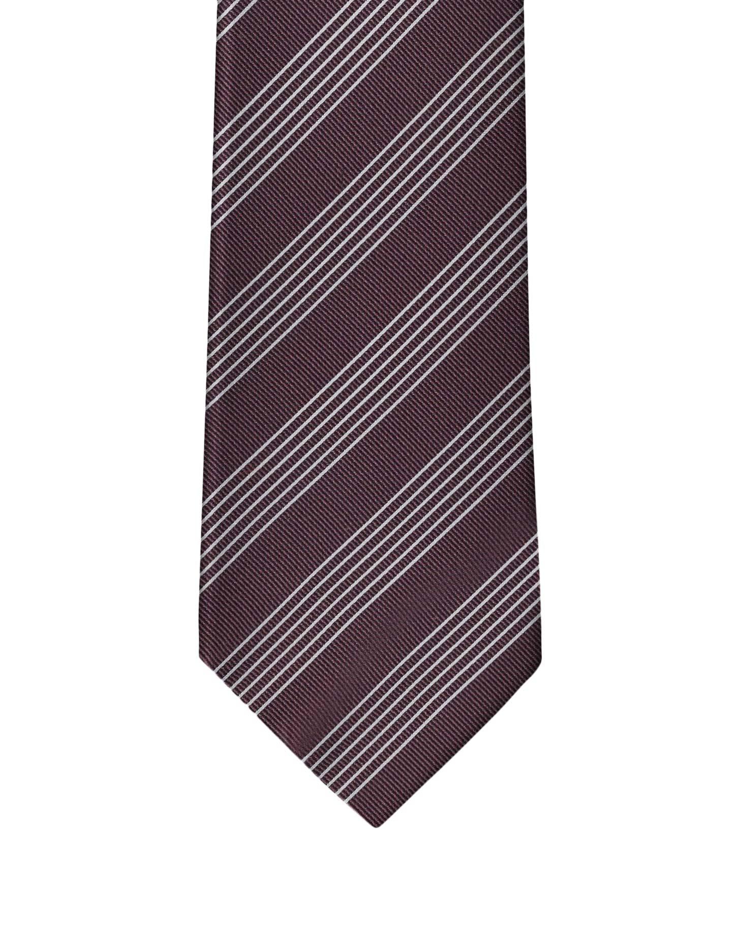 Burgundy Classic Stripe Necktie