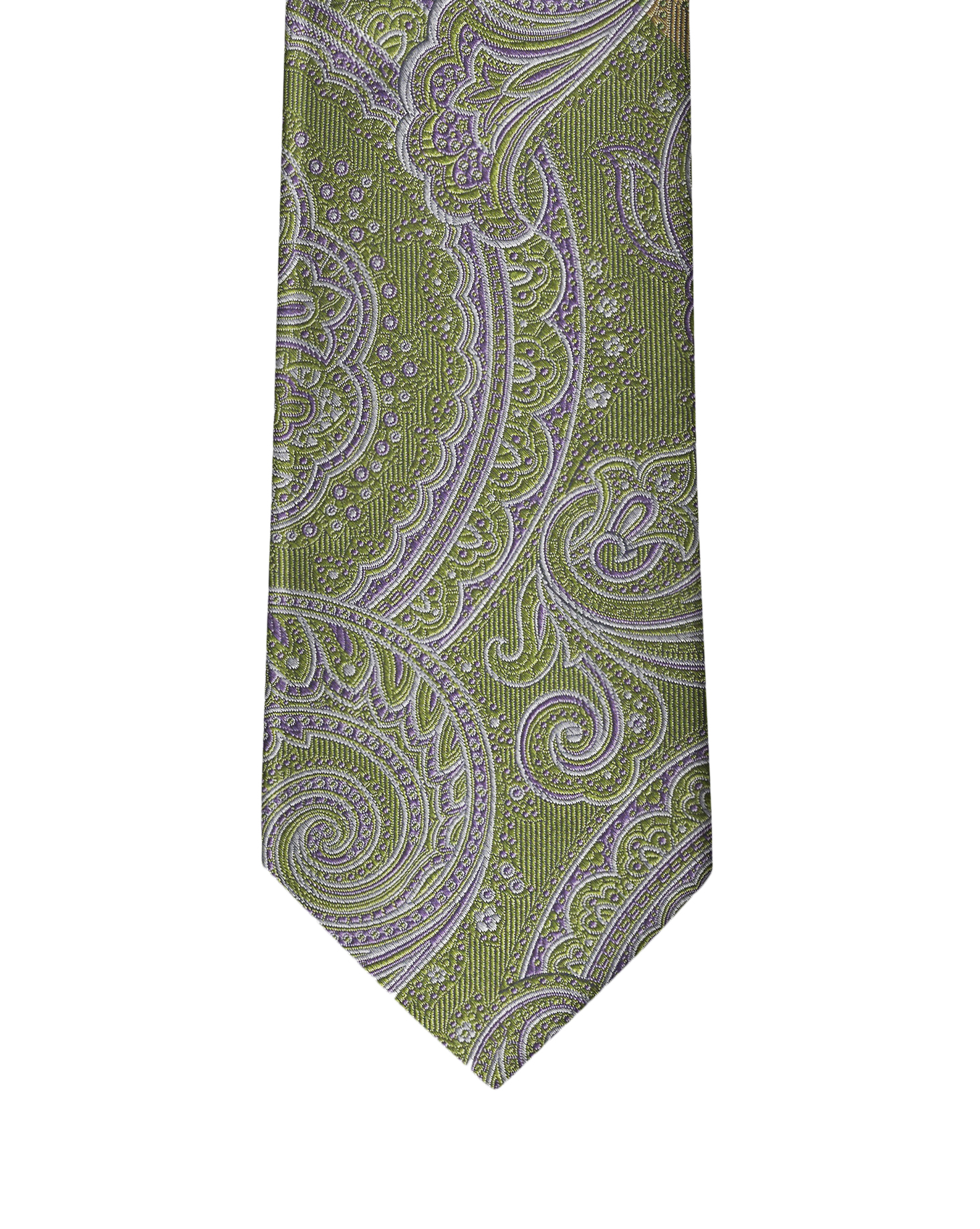 Pastel Green Paisley Necktie