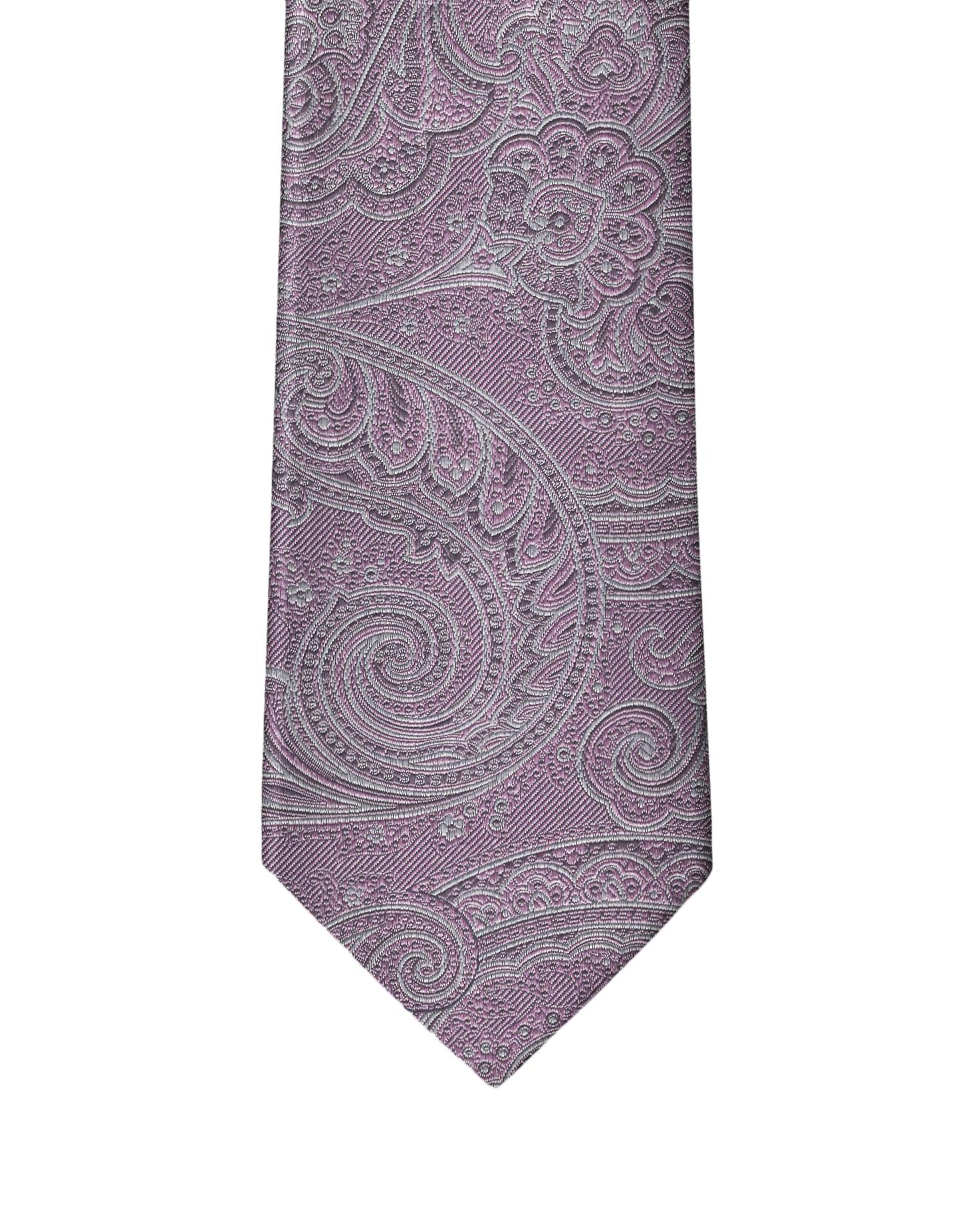 Pastel Lilac Paisley Necktie
