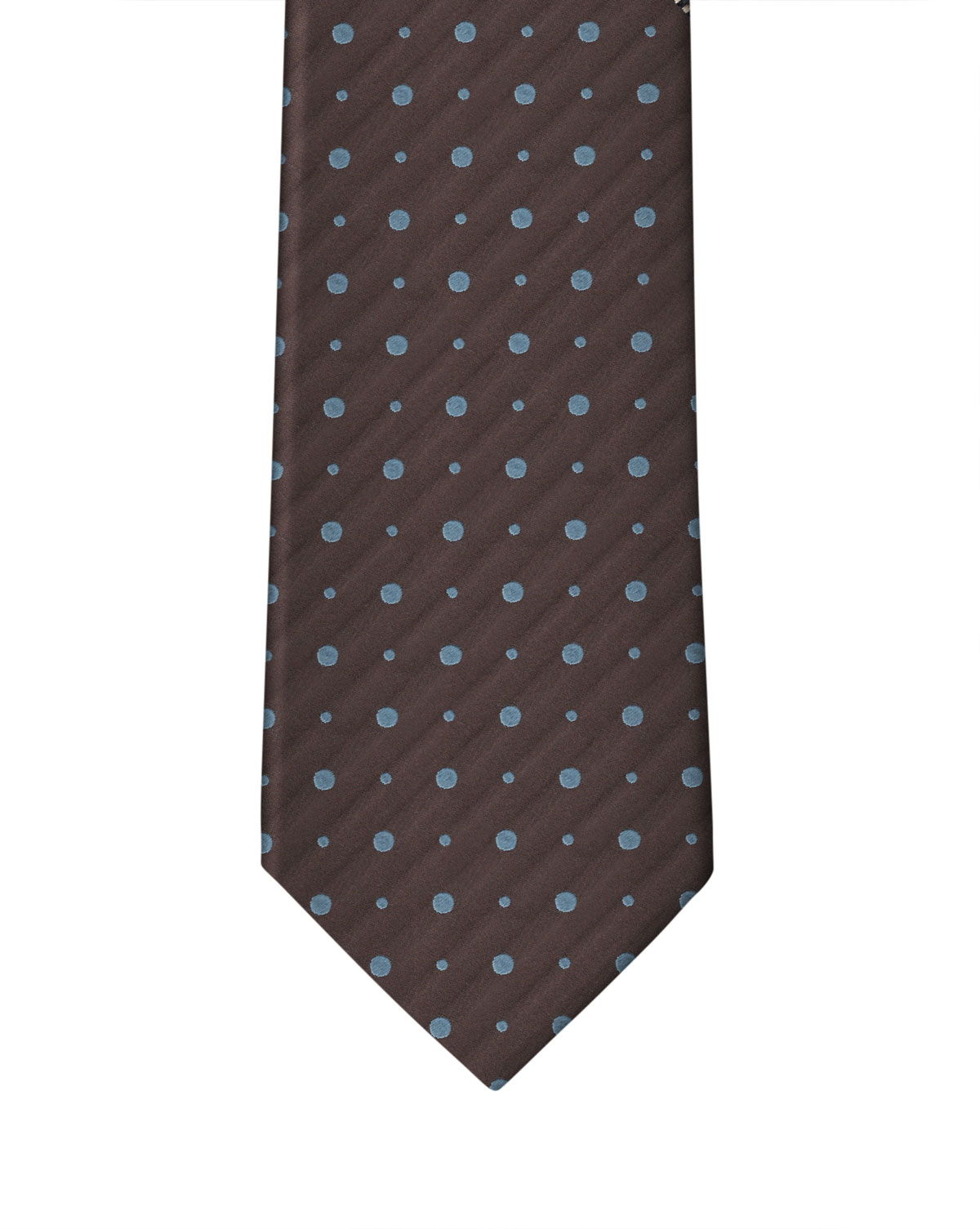 Brown & Slate Double Dot Necktie