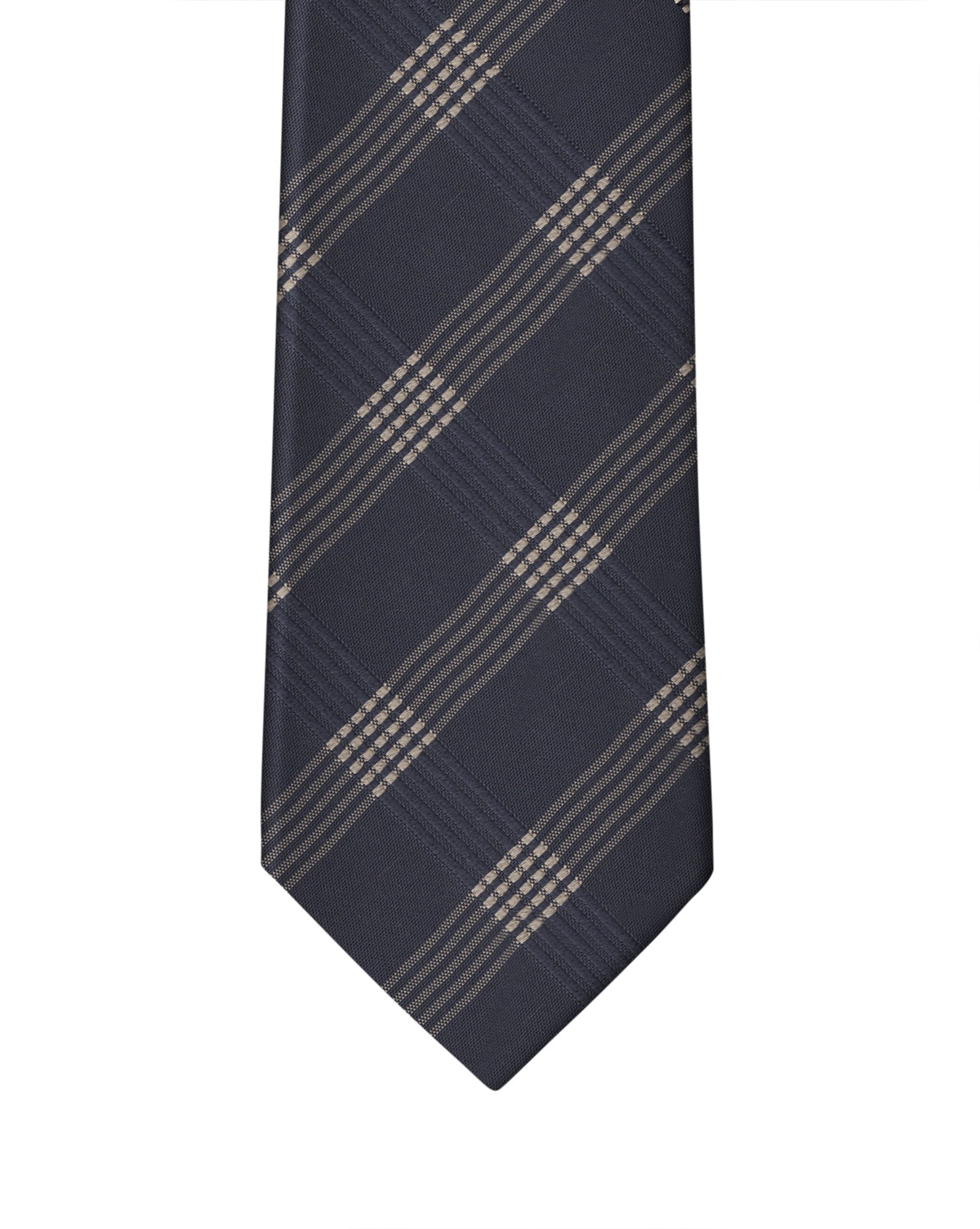 Navy Graphic Check Necktie