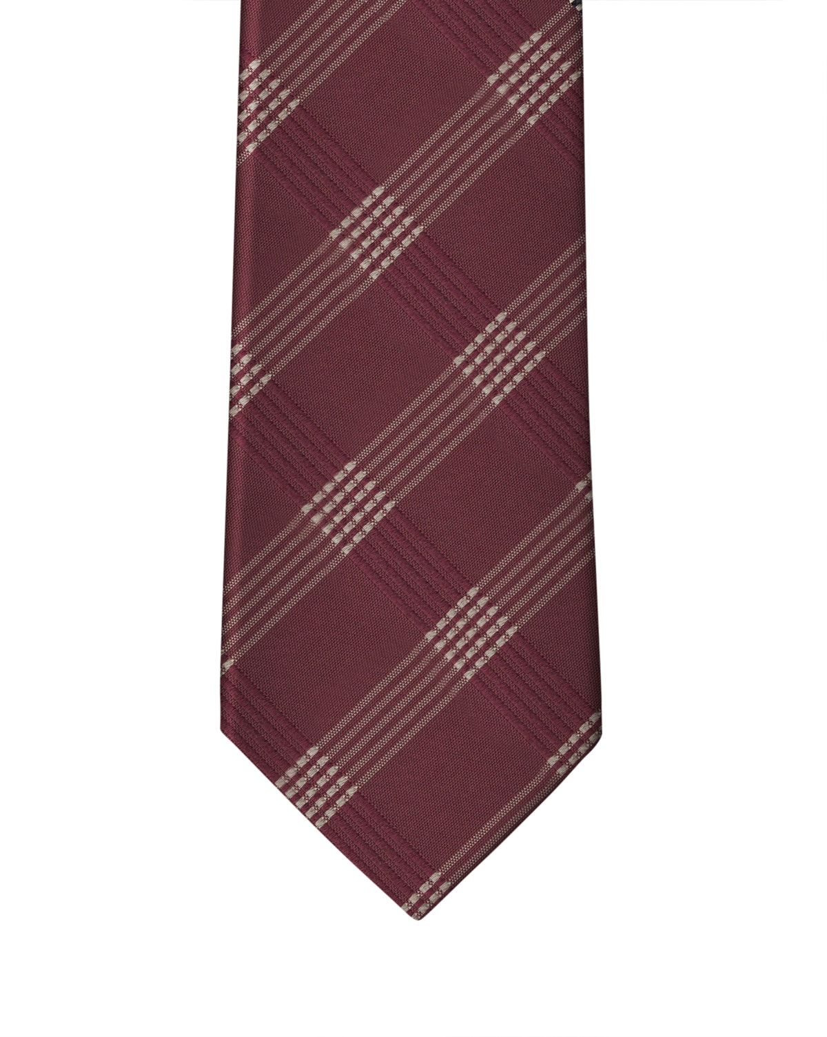 Burgundy Graphic Check Necktie