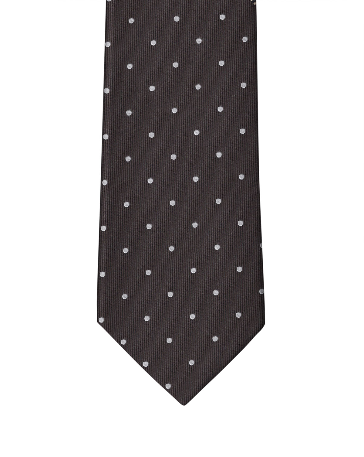 Brown & White Dot Necktie
