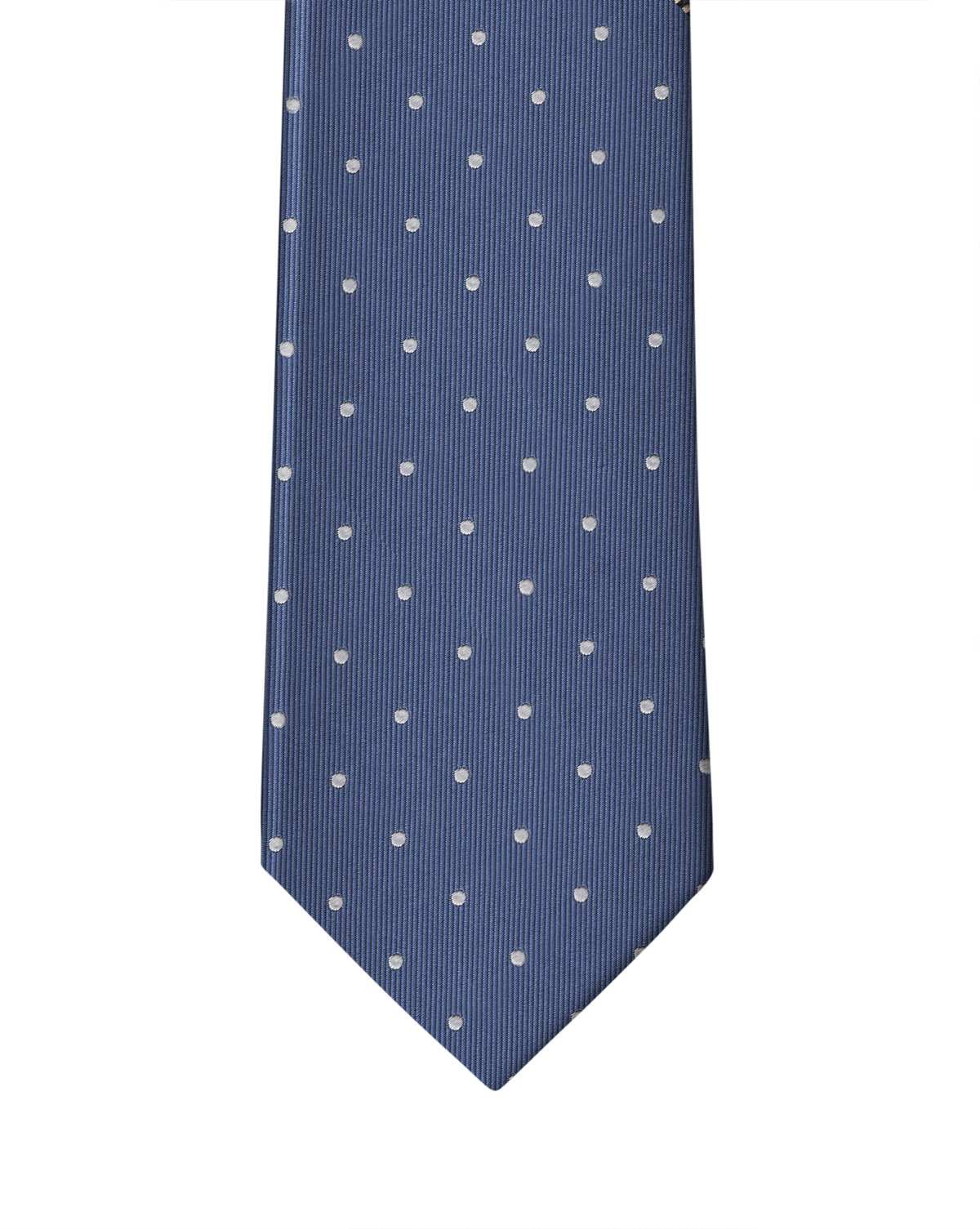 Sky Blue White Dot Necktie
