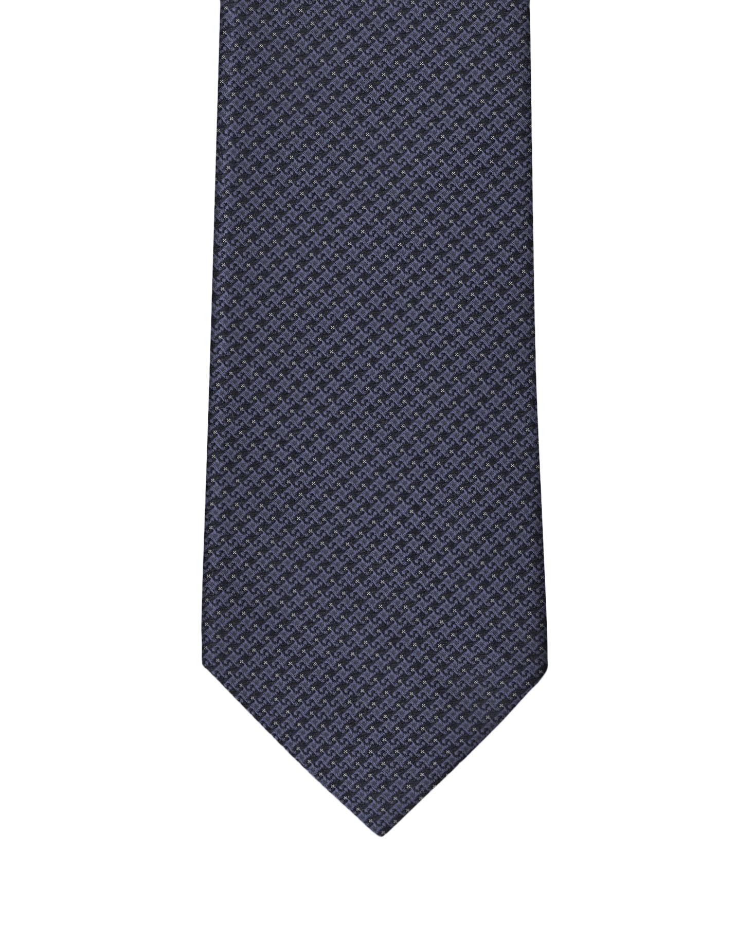 Midnight Micro Motif Necktie