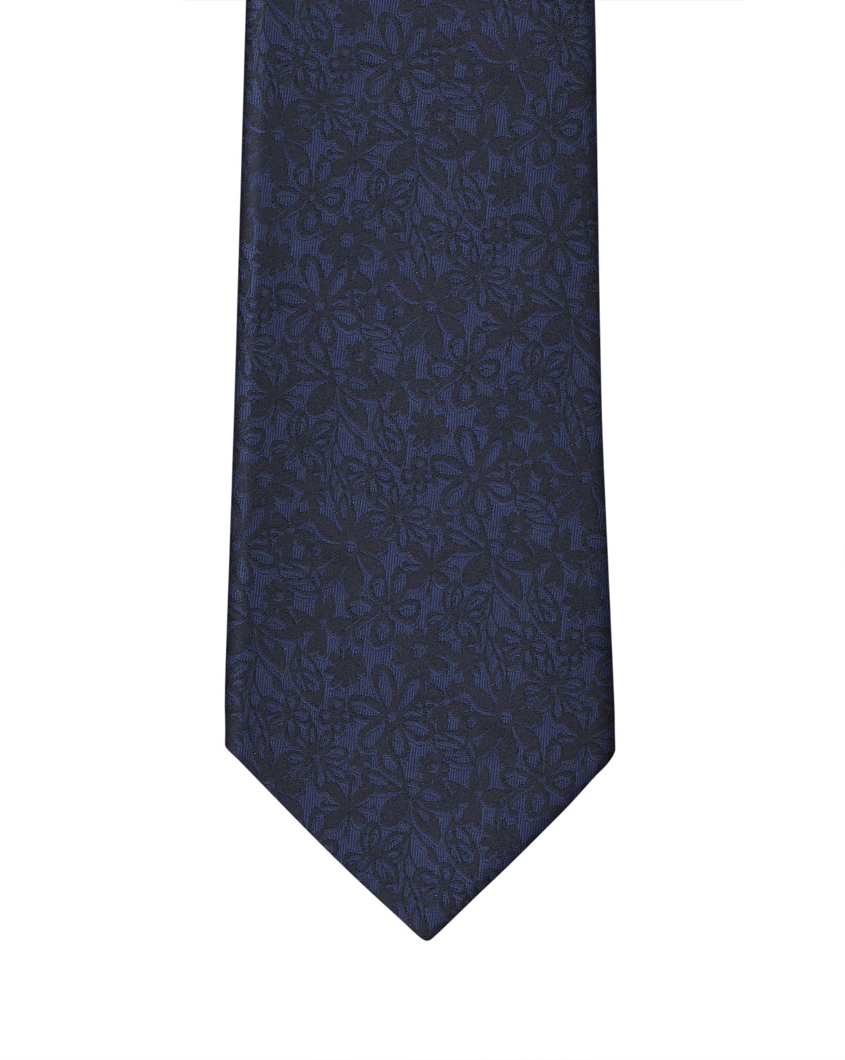 Navy Blue Flower Necktie