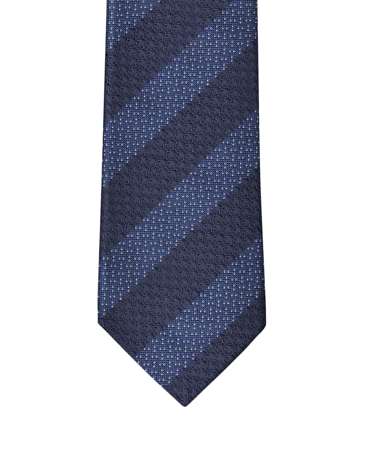 Navy Blue Fancy Stripe Necktie