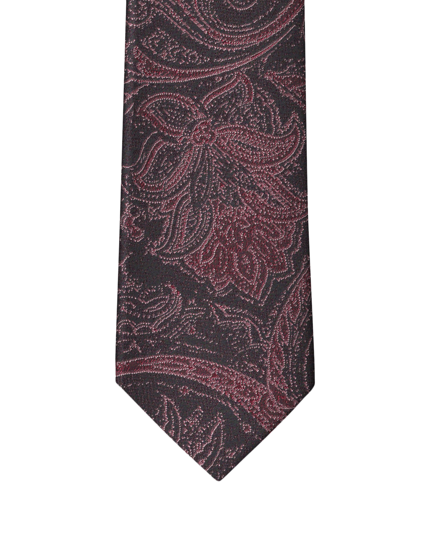 Burgundy & Red Persian Paisley Necktie