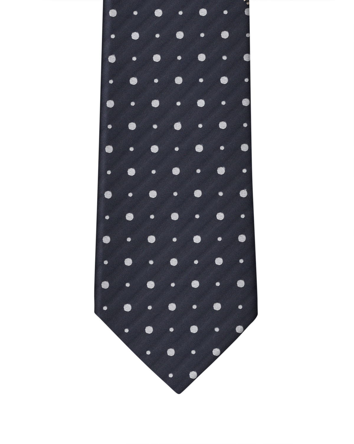 Navy & White Double Dot Necktie