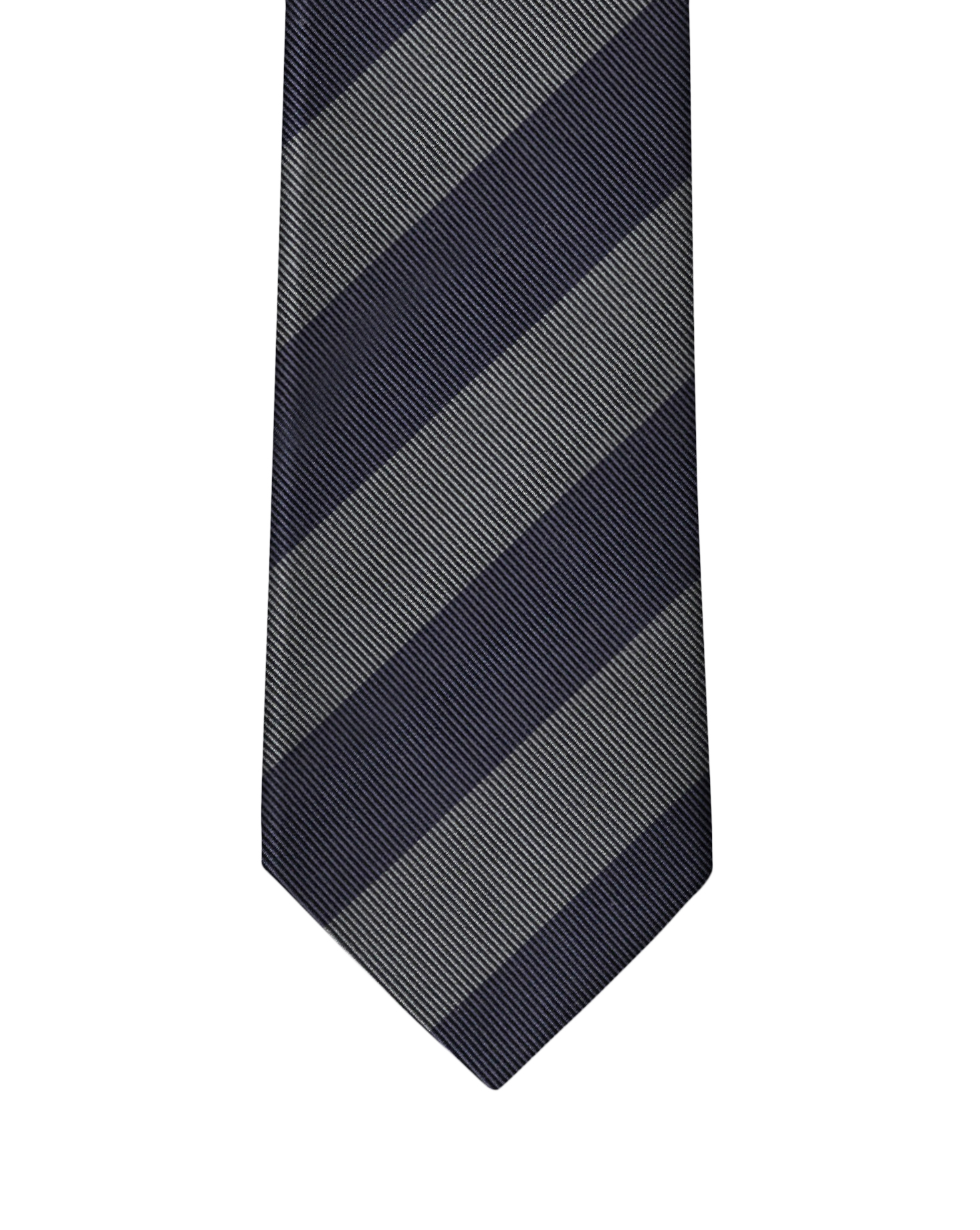 Navy Two Color Rep Stripe Necktie