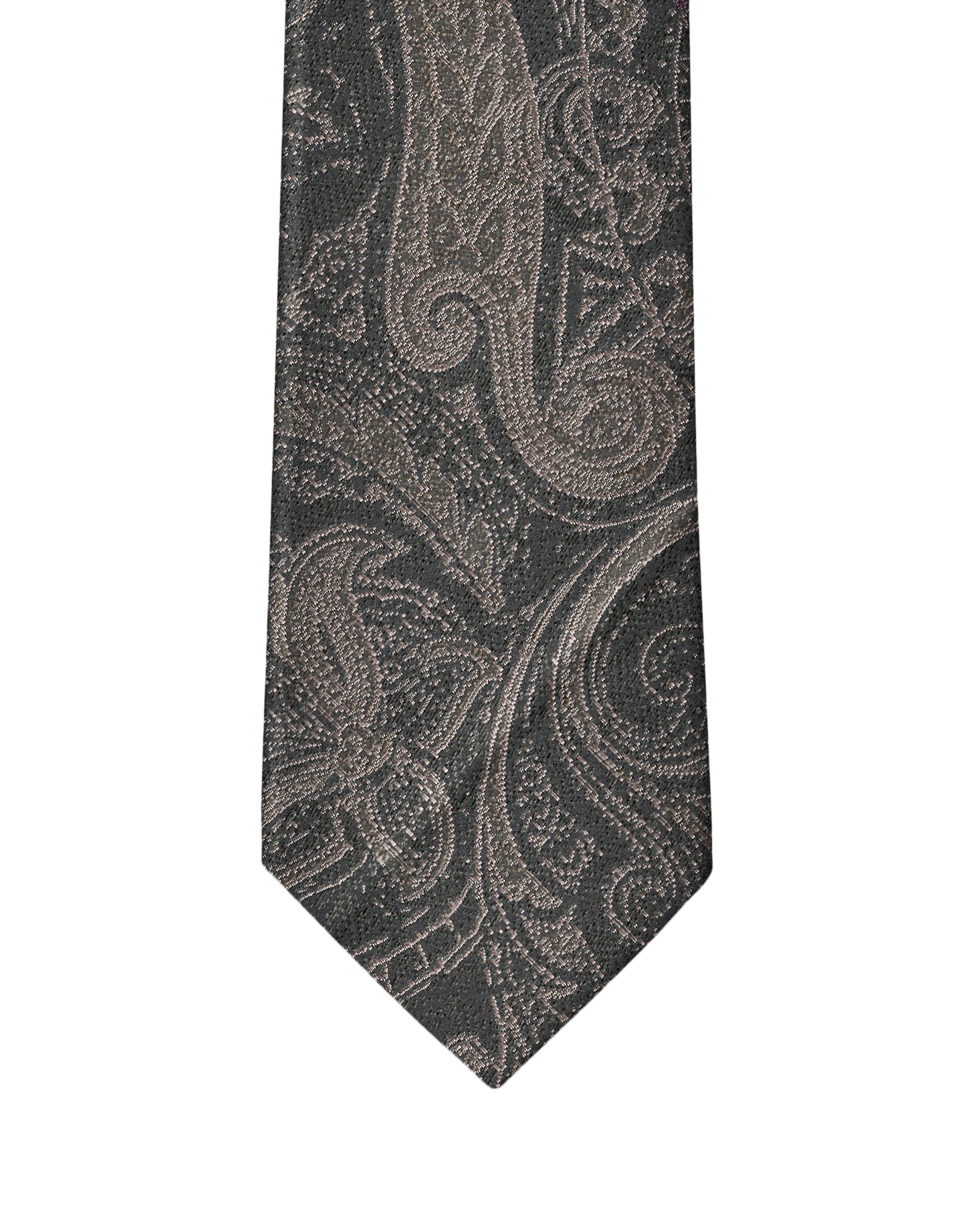 Black & Grey Persian Paisley Necktie